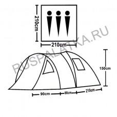 Палатка туристическая 3 местная ST-9120