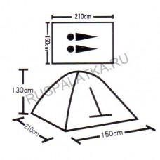 Палатка туристическая 2 местная ST-6260