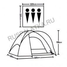 Палатка туристическая 3 местная ST-7050