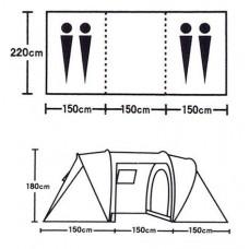Палатка 4-местная с 2 комнатами ST-6990