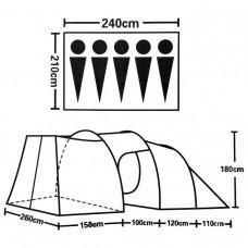 Палатка ST-9380 - 5-местная кемпинговая