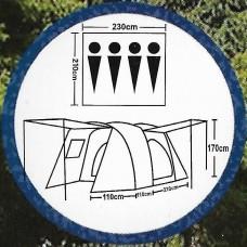 Палатка кемпинговая 4 местная ST-9040
