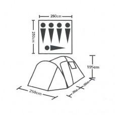Палатка 5 местная высокая с тамбуром ST-6070D