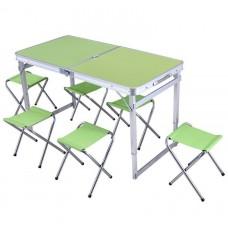 Складной стол для пикника (усиленный) + 6 стульев